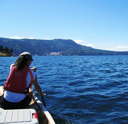 Maddie ocean canoeing on the West Coast
