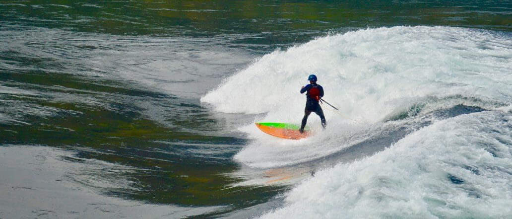 Person surfing