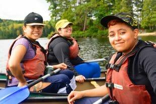 Charitable women canoeing slideshow