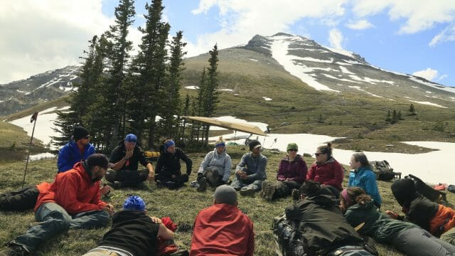Life-Compass-Rockies-Mountains-hiking-circle-group-discussion