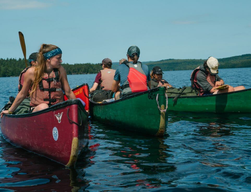 canoeing Ontario youth summer