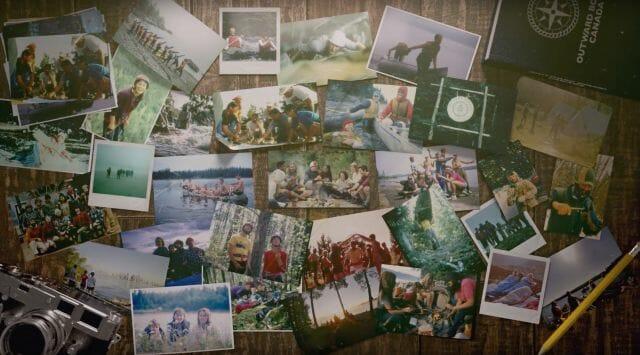 canoeing hiking vintage rockies youth