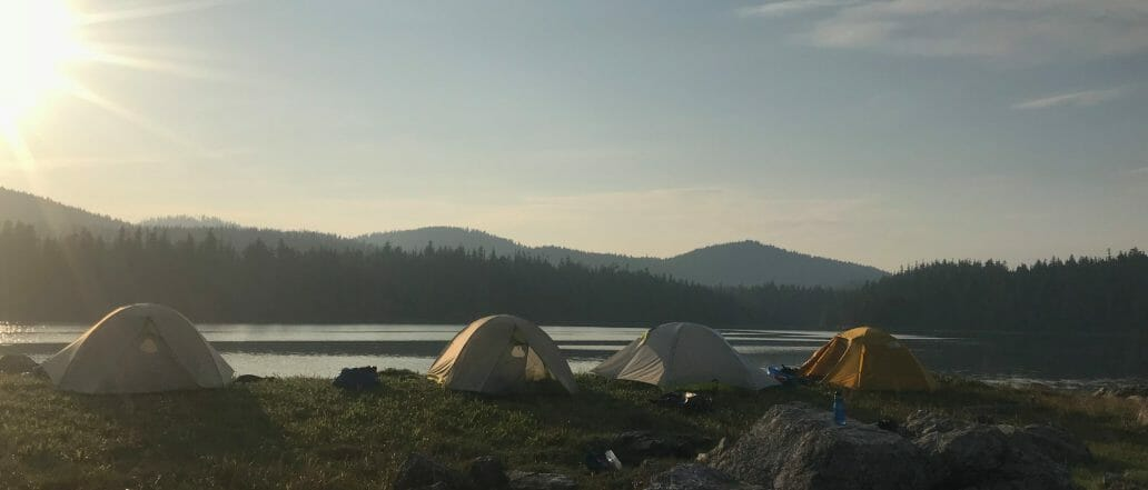 Tents on shore