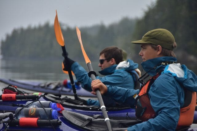 determined kayakers west coast